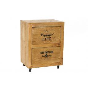 BEDSIDE TABLE WOOD 49X35X63,5