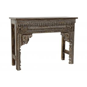 CONSOLE TABLE MANGO 107X41X82 BROWN