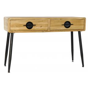 CONSOLE TABLE WOOD 115X43X77 NATURAL BROWN