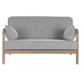 COUCH LINEN RUBBERWOOD 122X83X74 2 PLAZAS GREY