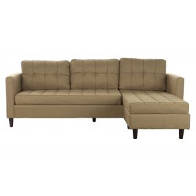 COUCH POLYESTER RUBBERWOOD 219X151X83 CHAISELONGUE