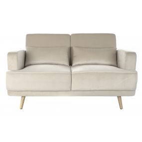 COUCH POLYESTER METAL 140X67X78 BEIGE