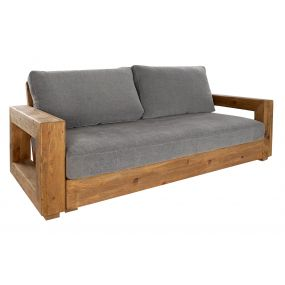 COUCH RECICLED WOOD PINE TREE 224X105X82 NATURAL