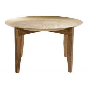 COFFEE TABLE MANGO BRASS 74X74X43 GOLDEN