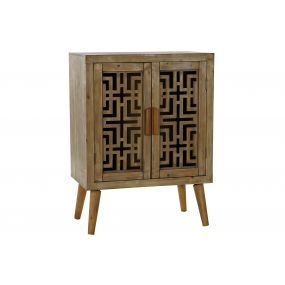 SIDEBOARD PINE TREE MDF 60,5X36X81 CARVED NATURAL