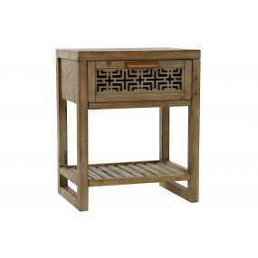 AUXILIARY TABLE PINE TREE MDF 48X34,5X59,5 CARVED