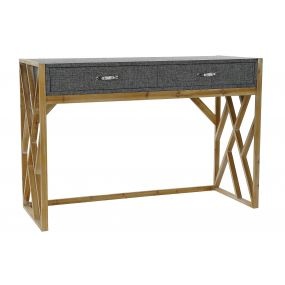 CONSOLE TABLE METAL WOOD 119,5X51X81,5 GREY