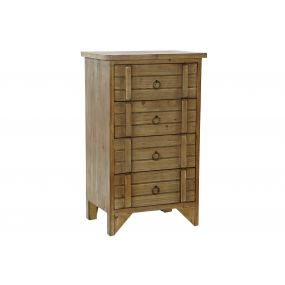 DRAWER WOOD 48X34,5X80,5 HEART NATURAL