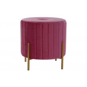 FOOTREST POLYESTER METAL 43X43X42,5 PINK
