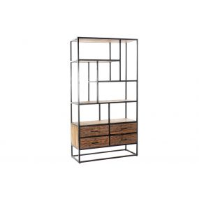SHELVING RECICLED WOOD MANGO 100X37X180 AGED