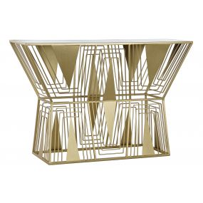 CONSOLE TABLE METAL MIRROR 120X40X80 GOLDEN