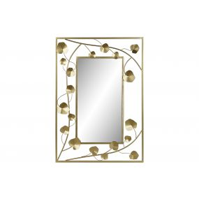 MIRROR METAL MIRROR 70X2X100 FLOWER GOLDEN