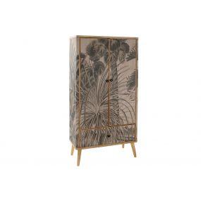 CLOSET WOOD BAMBOO 81X38X161 TROPICAL GREEN