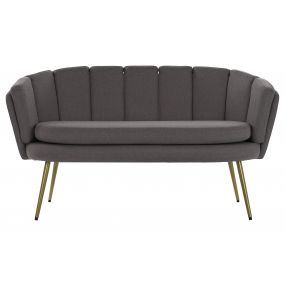 COUCH POLYESTER METAL 141X74X78 GREY