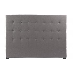 BED HEADER POLYESTER MDF 159X8X118 CAPITON GREY