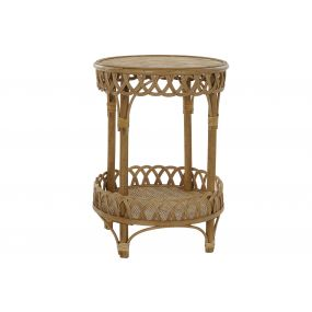 AUXILIARY TABLE RATTAN 42,5X42,5X60 NATURAL