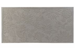 BED HEADER WOOD MDF 160X3X80 FLOWERS WORN OUT GREY