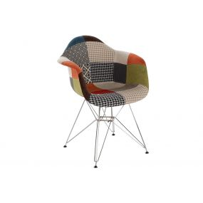 CHAIR POLYESTER METAL 63X61X82 46CM PATCHWORK