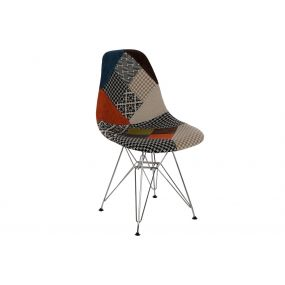 CHAIR POLYESTER METAL 47X49X83 47CM PATCHWORK
