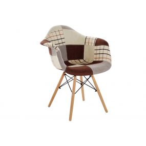 CHAIR POLYESTER PINE TREE 63X61X82 45,5 PATCHWORK
