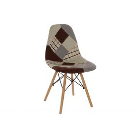CHAIR POLYESTER PINE TREE 47X49X83 47CM PATCHWORK
