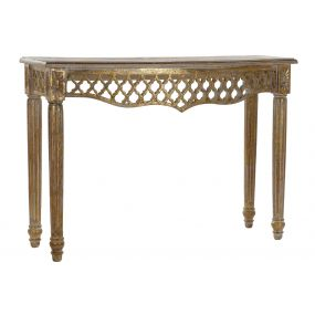 CONSOLE TABLE MANGO 108X38X79 AGED GOLDEN