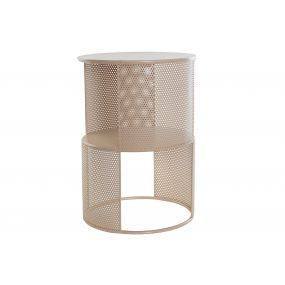 AUXILIARY TABLE METAL MDF 35X35X50 PINK
