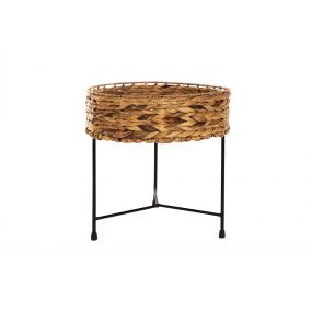 AUXILIARY TABLE FIBER METAL 40X40X40 NATURAL