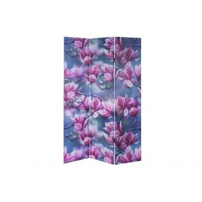 FOLDING SCREEN CANVAS MDF 120X2,5X180 LOTUS FLOWER