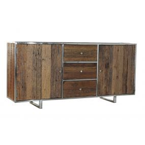 BUFFET RECICLED WOOD STEEL 175X40X85 AGED BROWN