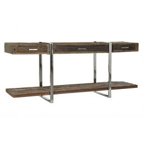 CONSOLE TABLE RECICLED WOOD STEEL 180X40X85 AGED