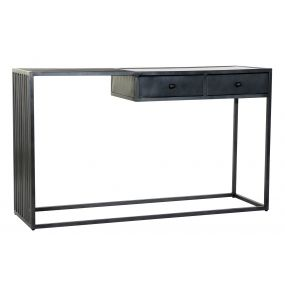 CONSOLE TABLE METAL MARBLE 130X40X76