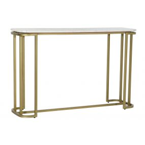 CONSOLE TABLE METAL MARBLE 120X35X76 GOLDEN