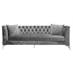COUCH POLYESTER METAL 230X88X81 3PLAZAS 2 CUSHIONS