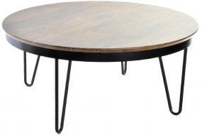 COFFEE TABLE MDF METAL 78X78X35
