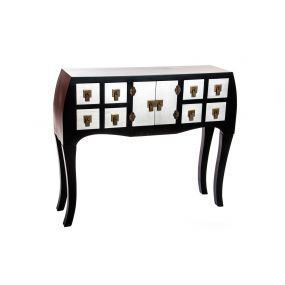 CONSOLE TABLE WOOD MDF 98X26X80 JAPANESE BLACK