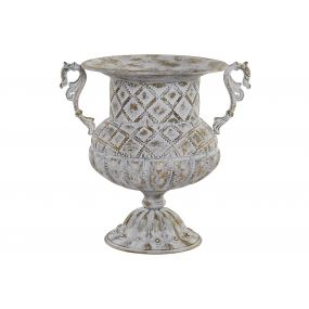 FLOWERPOT STAND METAL 40X31X38,5 CUP AGED GREY