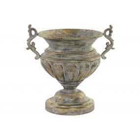 FLOWERPOT STAND METAL 32X24,5X32 CUP AGED GREY
