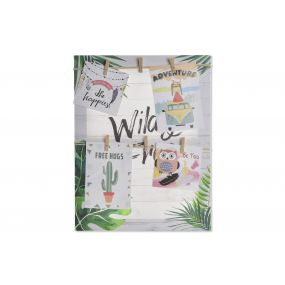 PHOTO FRAME CANVAS ROPE 30X40X2,5 TROPICAL