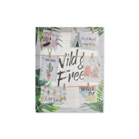 PHOTO FRAME CANVAS ROPE 40X50X2,5 TROPICAL