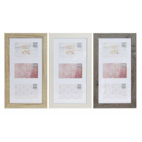 MULTIPHOTOS FRAME MDF GLASS 10X15 25X2X45 3 MOD.