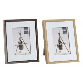 PHOTO FRAME MDF GLASS 10X15 17X3X22 2 MOD.