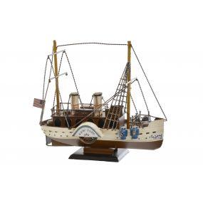 DECORATIVE VEHICLE METAL 35X13X27 SHIP
