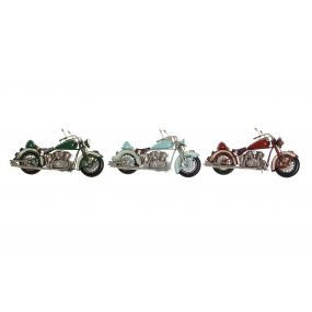 DECORATIVE VEHICLE METAL 28X11X14,5 MOTORCYCLE 3 M