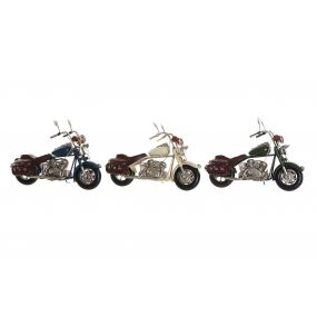 DECORATIVE VEHICLE METAL 19X7,5X13 MOTORCYCLE 3 MO