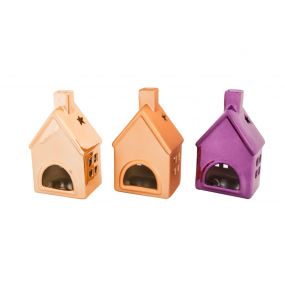 CANDLE HOLDER CERAMIC 9,5X7,5X16 HOME