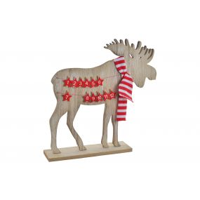 DECORATION WOOD 40,5X8X40 REINDEER CLOTHESPIN