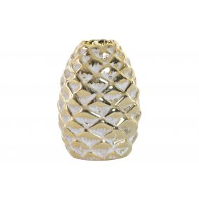 CANDLE HOLDER CERAMIC 7X7X10 PINEAPPLE DECAPE