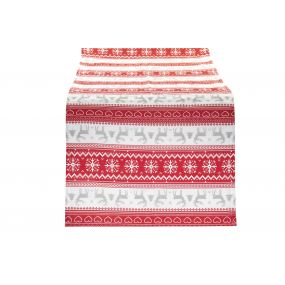 TABLE RUNNER COTTON 50X150 RED