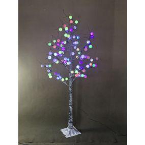 TREE LED METAL 50X50X150 96LEDS WHITE
